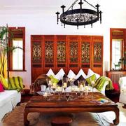 彩色客厅沙发装饰