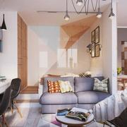 小巧时尚公寓客厅效果图
