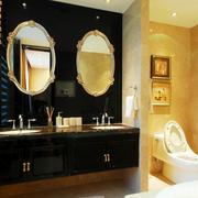 双人卫生间洗手台图