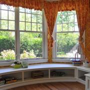 客厅飘窗窗帘图