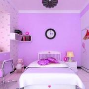 粉紫色卧室装饰