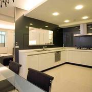 L字型的简约厨房橱柜