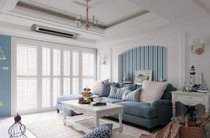 美式地中海风格房屋客厅