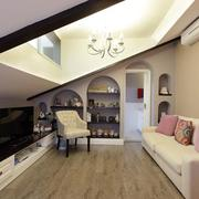 清新复式楼斜顶阁楼设计
