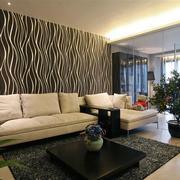 新房客厅沙发背景墙展示