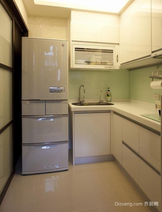 明亮宽敞都市风小户型厨房橱柜装修效果图