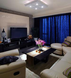 夫妻20万塑造东南亚三室两厅两卫家庭装修设计效果图