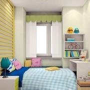 橙色儿童房床背景墙装饰