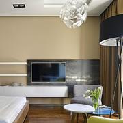 公寓简约电视背景墙装饰
