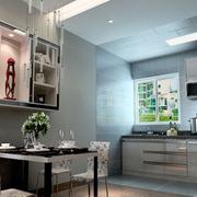 开放式家居小厨房设计