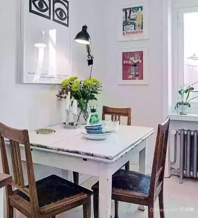 50平米简约白色小户型室内装修设计效果图大全