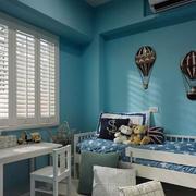 房屋蓝色小卧室设计