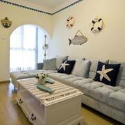 地中海房屋沙发背景墙