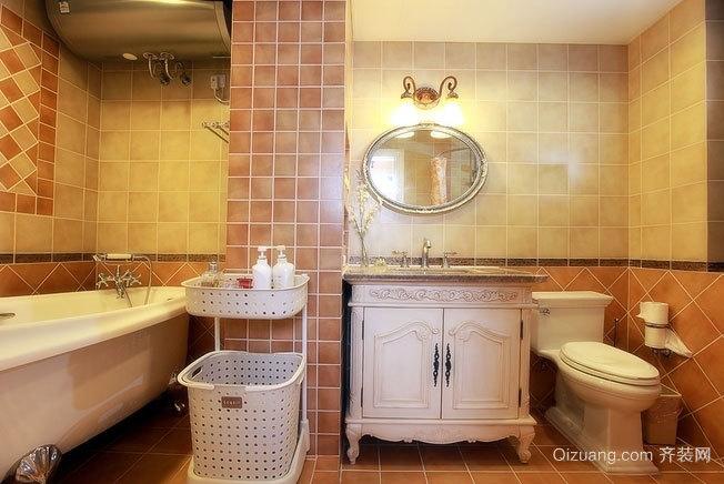 新中式风格卫浴间装修效果图
