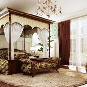 卧室豪华窗帘图