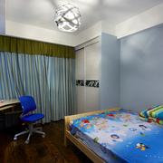 蓝色小户型儿童房装修