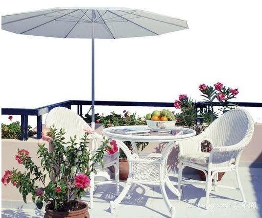 自建别墅充满活力的露台花园装修效果图