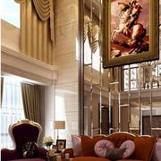 复式楼别墅客厅装饰画