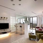 房屋客厅简约电视背景墙设计