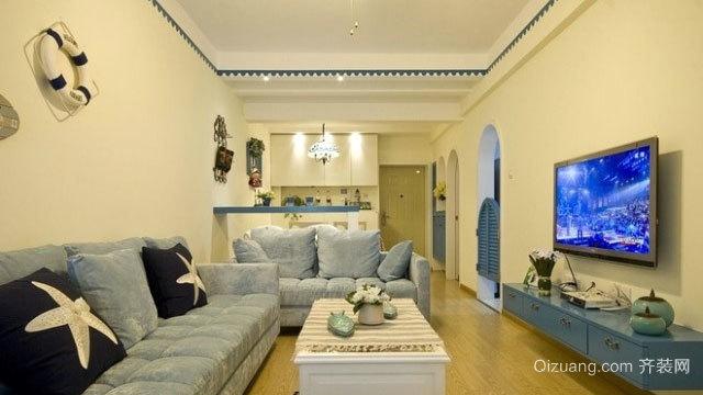 100平米见证幸福的蓝色地中海风格房屋装修效果图
