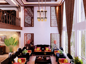 古韵新风中式精致别墅家居装修效果图