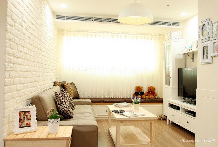 40平米清新暖意一居室房屋装修效果图大全