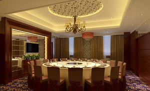 干净整洁带有浪漫色彩的饭店装修效果图