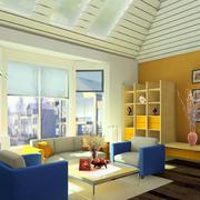 彩色简欧式客厅设计