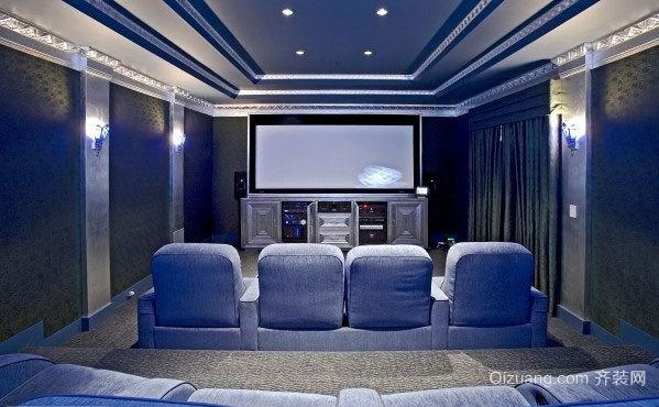 200平米豪宅配备的奢华浮夸的家庭影院装修效果图