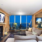 现代美式风格公寓客厅