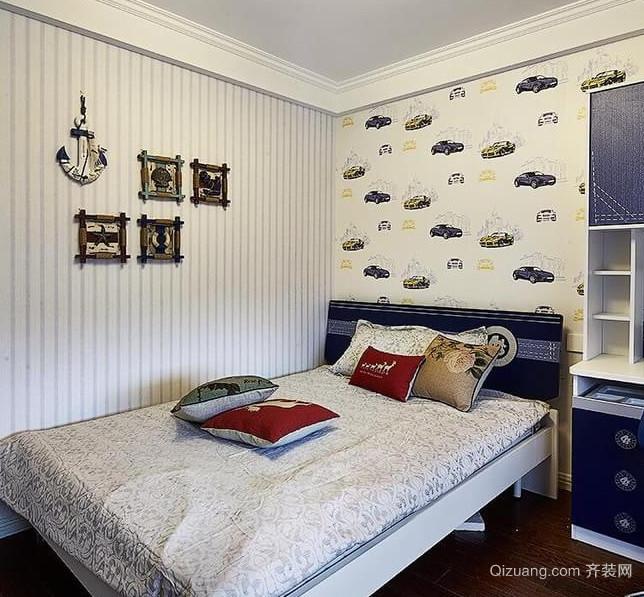 氛围清爽的美式儿童房设计装修效果图