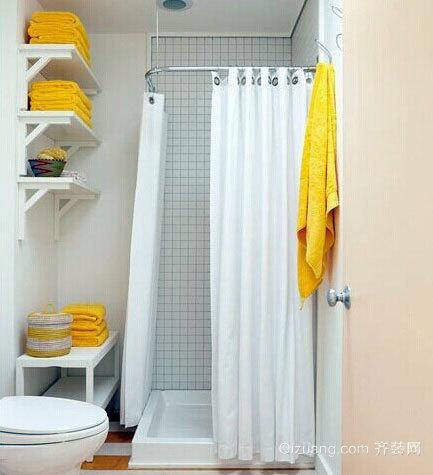 10平米现代简约时尚的卫生间装修效果图