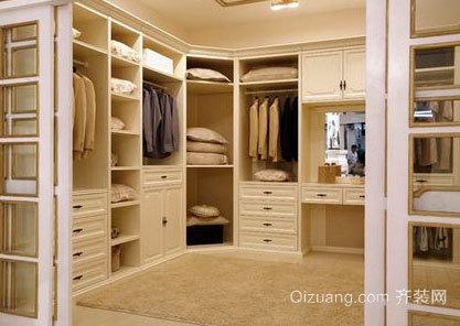 80平米优雅静谧整体衣柜效果图