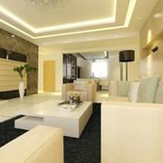 客厅地板砖效果图片
