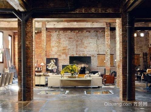 90平米小仓库改装复古风格时尚混搭房屋装修