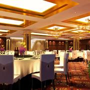 暖色调餐馆设计图片
