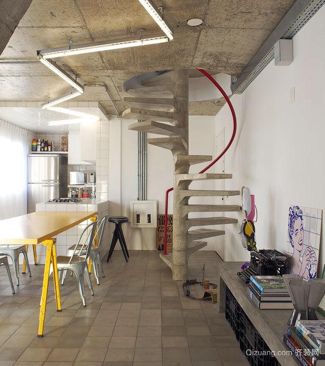 热情洋溢的100平米小公寓装修效果图
