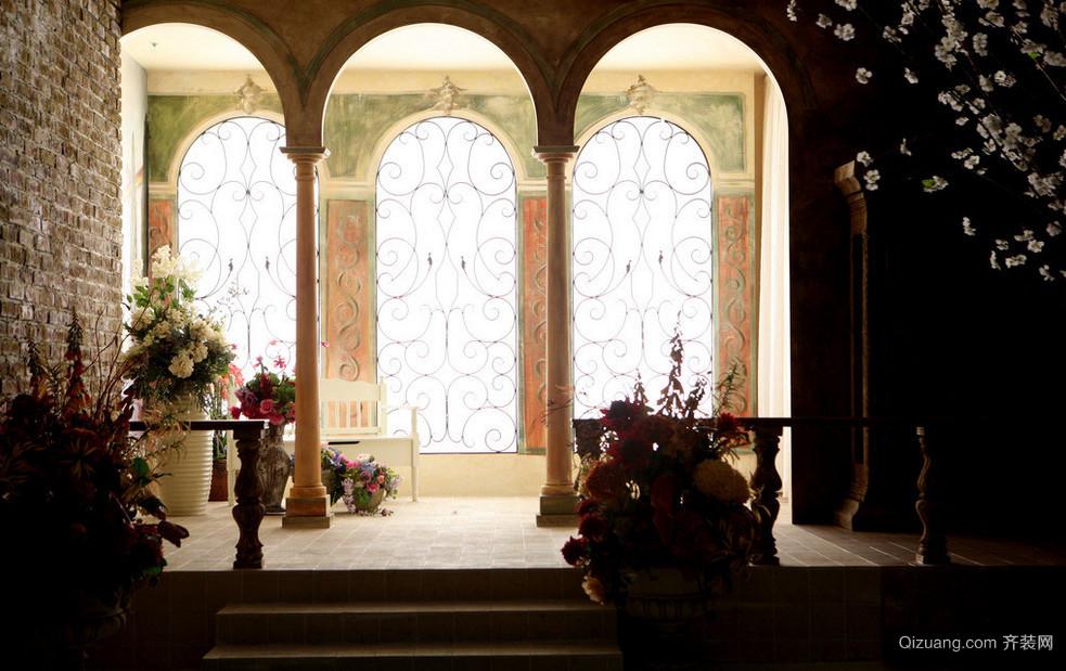 欧式深色别墅拱门装修效果图