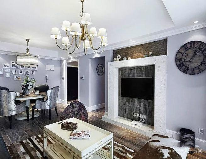 159平米现代美式自住型商品房家庭装修效果图