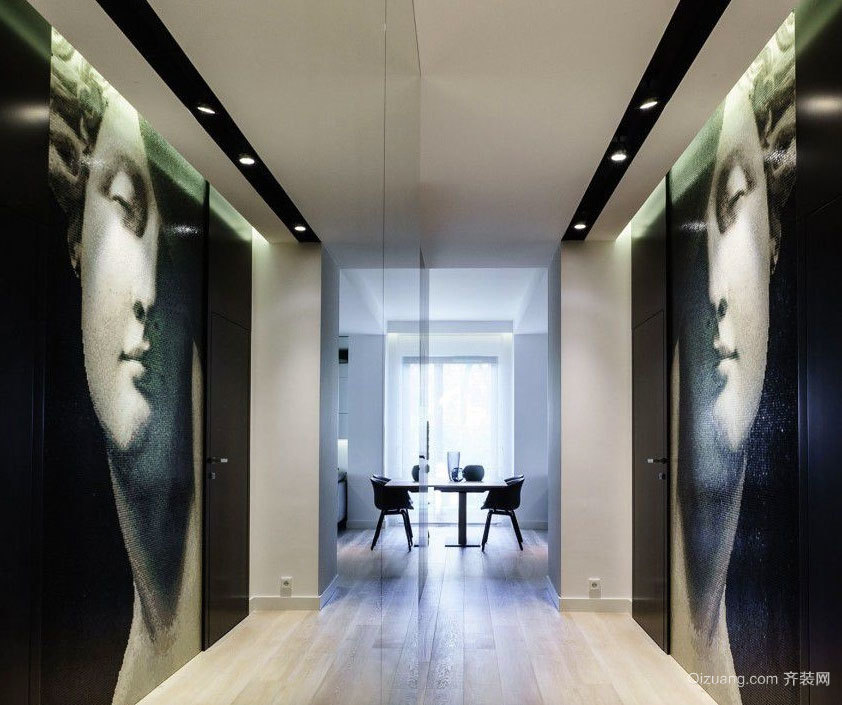 120平米后现代简约带有艺术气息的公寓装饰