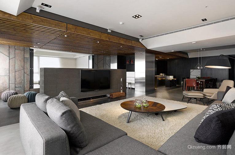 150平米开阔空间尺度三室一厅室内装修设计效果图