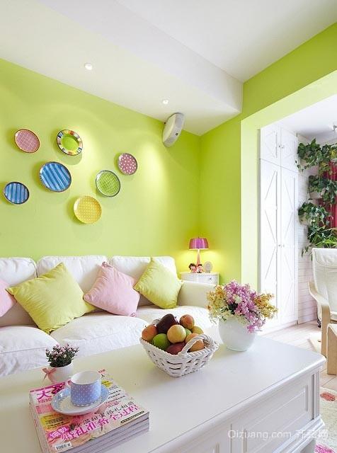 趣味创意家庭客厅室内装修效果图