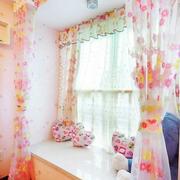 粉色调窗帘设计图片