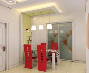 全新自建别墅韩式风格餐厅吊顶效果图