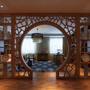 传统型别墅圆门设计
