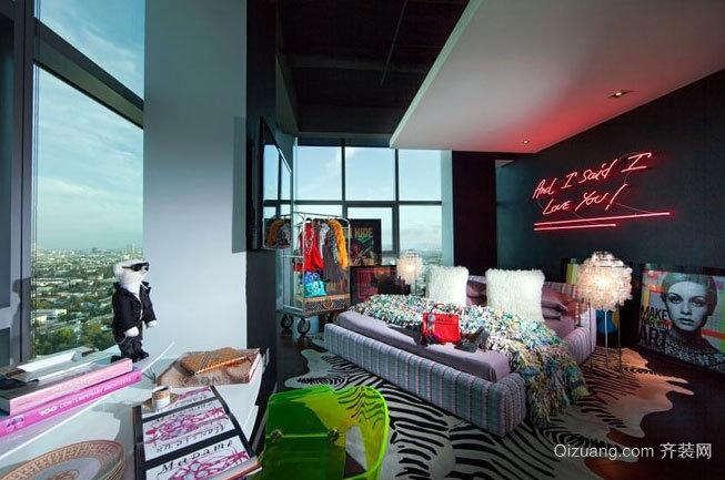 能征服所有女生的梦幻单身公寓室内装修设计效果图