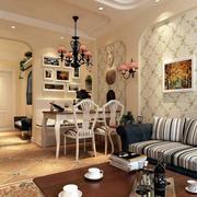 暖色调客厅效果图片