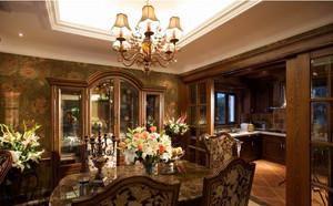 120平米气势恢宏中式客厅装修效果图