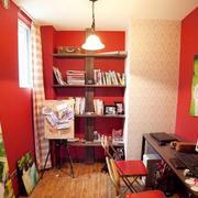 红色调婚房效果图片