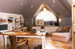 三居室中式风格平顶阁楼装修效果图